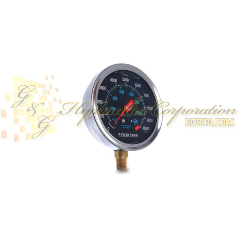 "9055 SPX Power Team Analog Gauge, 4"", 0-10 Ton C/RD/RH+ Dry UPC #662536361163"