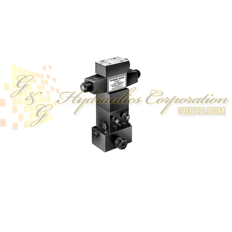 9512 SPX Power Team 4-Way, 3-Position Pilot Operated Solenoid Tandem Center Valve 24 Volt UPC #662536127615