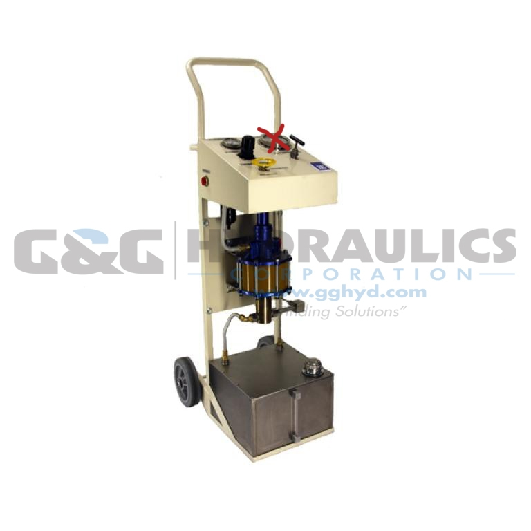 97-6000W201 SC Hydraulic Power Unit, Aluminum/Bronze, 10-6 Series Pump, 330:1 Ratio