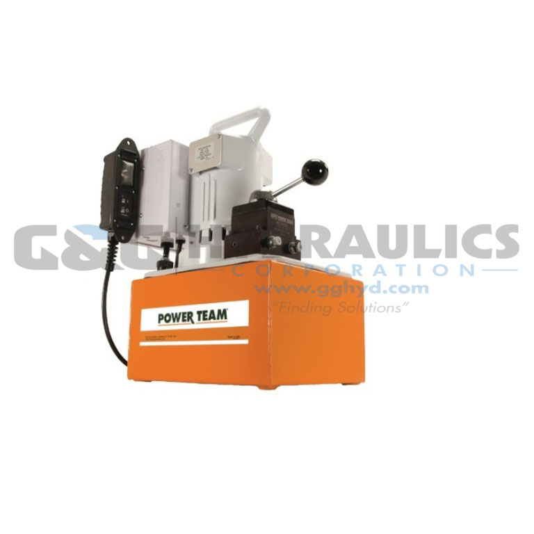 Electric Hydraulic Pump >> Pe1204fr Spx Power Team Electric Hydraulic Pump 1 1 8 Hp 115vac Upc
