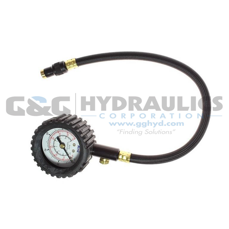 A532RB-PB Coilhose High Resolutions Gauge with/ Boot, 0-60 lbs, Display UPC #048232305326