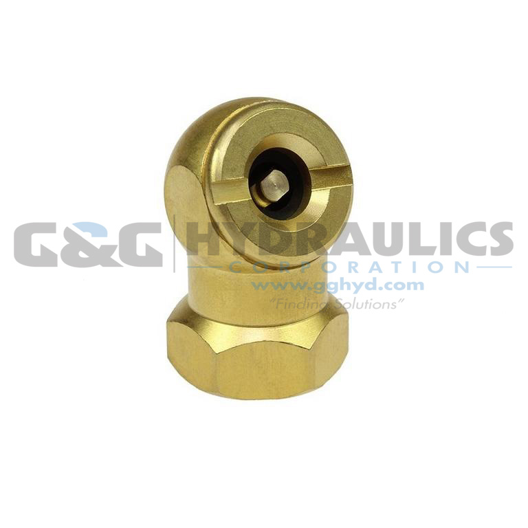 "CH10-DL Coilhose Brass Closed Check Ball Chuck, 1/4"" FPT, Display Card UPC #029292317207"