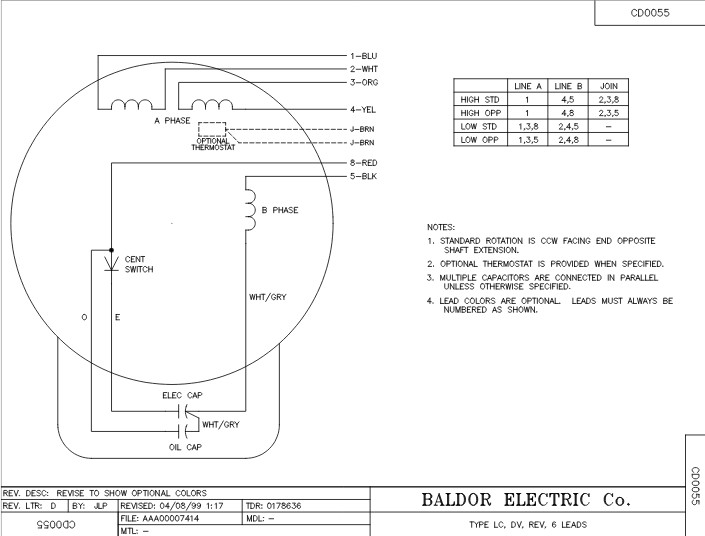 cl3507 baldor single phase enclosed c face, foot mounted, 3 4hp, 1725rpm, 56c frame upc 781568109274 baldor 115 230 wiring baldor wiring diagram 56c 115 230