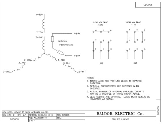 Baldor Wiring Diagram 56c 115 230 - Wiring Diagram