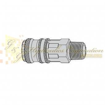 "10-315-2154 CEJN Quick Disconnect eSafe Coupler, 3/8"" Male Thread Connection, 232 PSI (16 bar)"