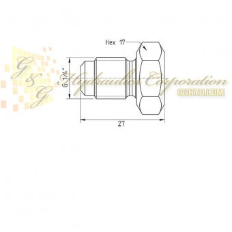 19-950-1600 CEJN Plug, Male Thread With 120° External Cone, 43511 PSI (3000 bar)