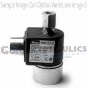 "71295SN1KNJ1N0D100C2 Parker Skinner 2 Way Normally Open 1/8"" NPT Direct Acting Stainless Steel Solenoid Valve 24VDC DIN - 1"