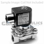 "72228RN5VV00 Parker Skinner 2 Way Normally Open 3/4"" NPT Direct Lift Stainless Steel Pressure Vessel (Valve Body)"