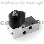 "73317VN2KN00N0H611C2 Parker Skinner 3 Way Normally Closed 1/4"" NPT Pilot Operated Internal Pilot Supply Stainless Steel Solenoid Valve 24VDC Conduit - 1"