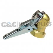"CH09-DL Coilhose Brass Closed Check Ball Chuck & Clip, 1/4"" FPT, Display Card UPC #029292928489"