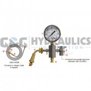 AI-CG3-6KT-SS Accumulators, Inc. Charging & Gauging Assembly Kit for 3000 PSI Accumulators, 6000 PSI Gauge