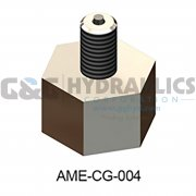 "Part #AME-CG-004 Accumulators Inc AME Adapter Assembly, 5/8"" To Schrader, Stainless Steel"