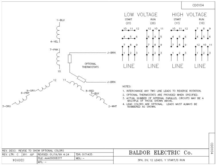 em2539t 12 baldor three phase open drip proof foot mounted 40hp 1770rpm 324t frame upc 781568542057 3 12 lead motor wiring diagram baldor 12 wiring diagrams baldor 12 lead motor wiring diagram at soozxer.org