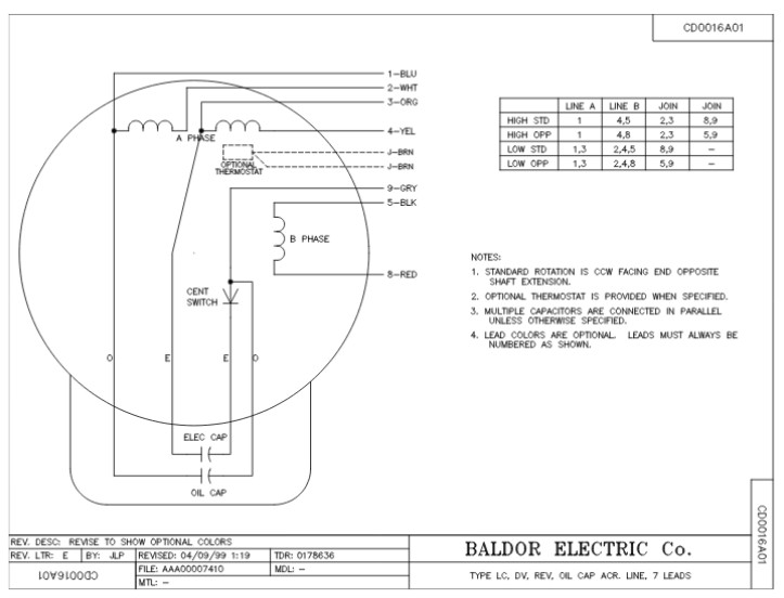 L1408t baldor single phase open foot mounted 3hp 1725rpm 184t frame upc 781568101605 3 baldor 184t wiring diagram taylor wiring diagram, devilbiss on sew eurodrive 208 volt wiring diagram