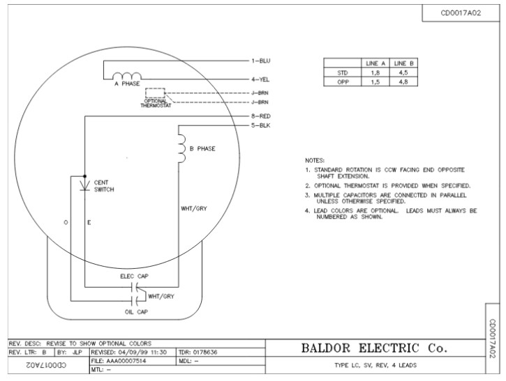 l1410t baldor single phase open foot mounted 5hp 1725rpm 184t frame upc 781568101650 3 baldor generator wiring diagrams wiring diagram simonand single phase wiring diagram at gsmportal.co