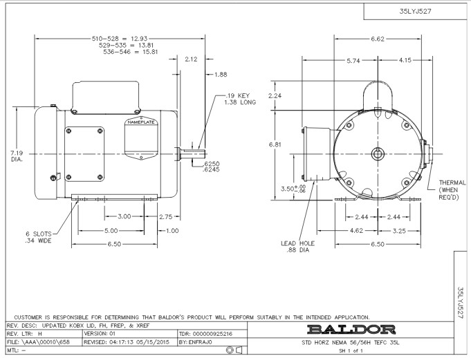 l3510m baldor single phase enclosured foot mounted 1hp 1725rpm 56 56h frame upc 781568100417 2 toshiba vfd wiring diagram wiring diagram toshiba motor wiring diagram at bayanpartner.co