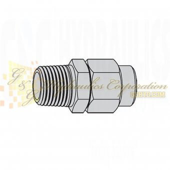 "19-958-1242 CEJN Stream-Line Hose Adapters 1/4"" Male NPT Connection For 5/16"" (8x12 mm)"
