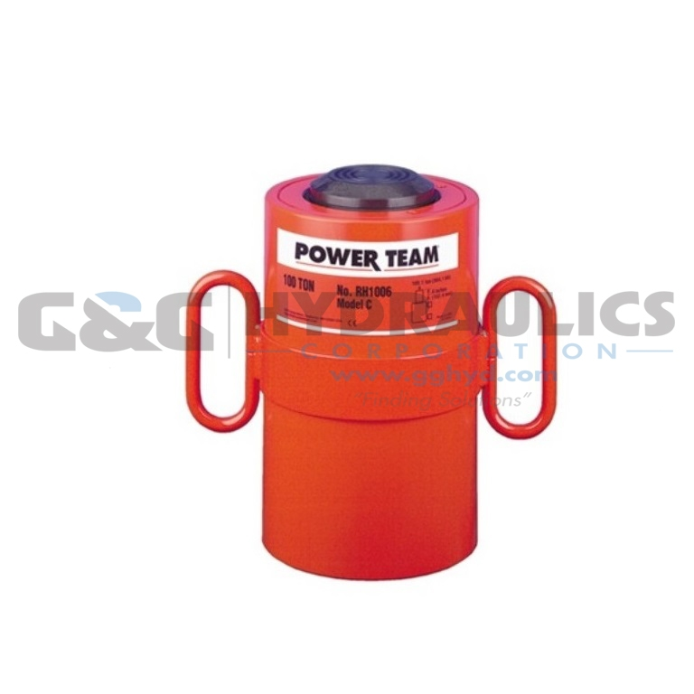 "RH1001 SPX Power Team Double Acting Cycle, 100 Ton, 1-1/2"" Stroke UPC #662536322928"