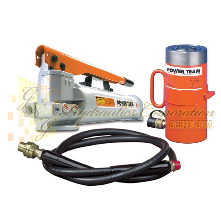 "RPS556 SPX Power Team Cylinder and Pump Set, 55 Ton Capacity Two Speed Pump 6-1/4"" Stroke UPC #662536003421"