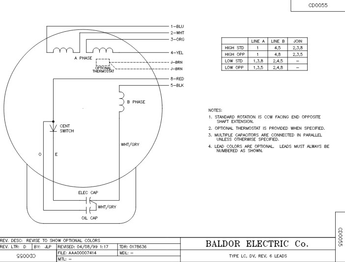 vl3507 baldor single phase enclosed c face footless 3 4hp 1725rpm 56c frame upc 781568109076 3 balador wiring single phase 230 volt motor diagram wiring diagrams 115 volt motor wiring diagram at reclaimingppi.co