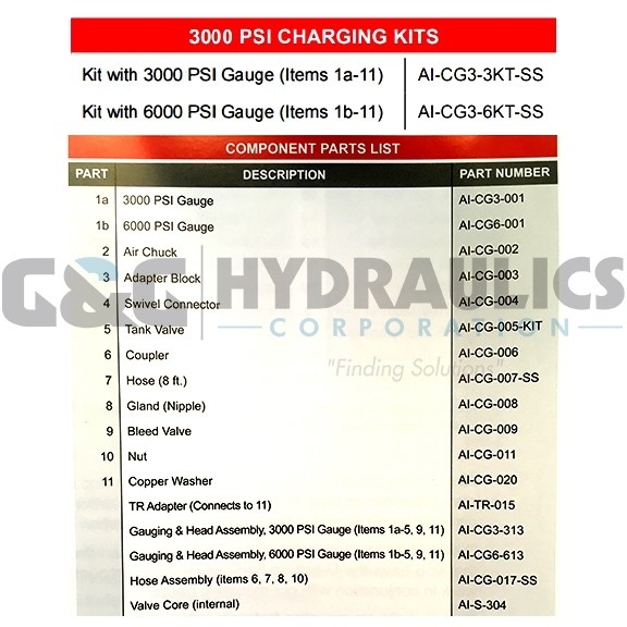 AI-CG3-3KT-SS Charging and Gauging Kit